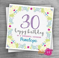 Personalised 30th 40th 50th Birthday Card Sister, Daughter, Niece, Auntie, Wife