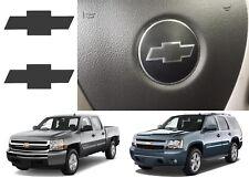 Matte Black Steering Wheel Vinyl Bowtie For 2007-2013 Chevrolet Silverado New