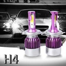 LED Headlights Bulbs H4/ HB2/ 9003 72W 7600LM  Plug COB 6000K Super Bright White
