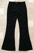 Theory Shisila Reactive Corduroy Pants Black Womens Size 4 Side Zip Flat Front