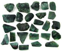 500.00 Ct Natural Raw Green Emerald Loose Gemstone Rough Crystal 26 Pc Lot-11035