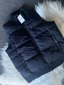 COUNTRY ROAD : SZ L,XL NEW! navy satin puffer vest 16,18 CR LOVE
