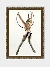 aquarelle watercolor A4 nude female drawing originale nu women woman girl 45 new