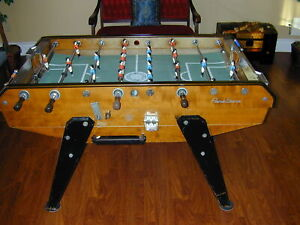 1960's Vintage Rene Pierre Foosball Table Soccer Arcade Version Coin Operated