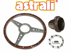 Triumph TR4/5/6 15 inch wood and alloy Steering wheel with polished fitting hub