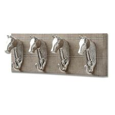 BARN OWL YORKSHIRE TWEED WITH FOUR HORSE HEAD COAT HOOKS- USEFUL ACCESSORY.