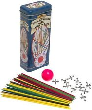 NEW IN TIN Cardinal Collection Pick-Up Sticks & Metal Jacks Classic Family Games