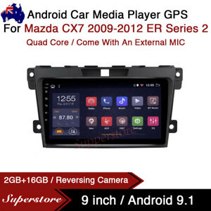 "9"" Android 9.1 Car Stereo Media non dvd GPS Head Unit For Mazda CX7 ER Series 2"