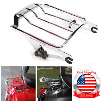 Chrome Detachable 2-Up Air Wing Luggage Rack Fit Harley Touring Road King 09-18