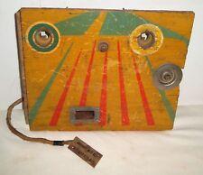 """Wood Pinball or Arcade Machine Original Wooden Coin Door - 10"""" x 7.75"""" - NICE"""