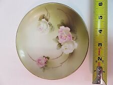 Genuine RS Germany Collectible Plate 1910-1945 Pink Roses Hand Painted 6""
