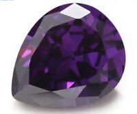 Romantic 13x18mm 18.22ct AAAAA Pear Purple Amethyst Diamonds Cut VVS Loose Gems