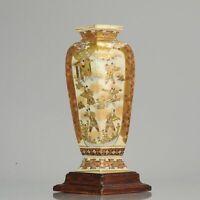 Antique 19C Japanese Satsuma Vase Japanese Satsuma ware Figures