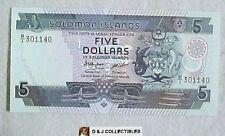SOLOMON ISLANDS 1986  5 DOLLAR UNC CONDITION