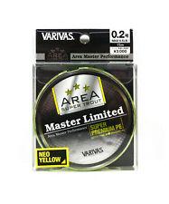 Varivas P.E Line Trout Area Master Limited 75m Yellow P.E 0.2 6.5lb (4971)