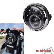 "7"" LED Headlight Side-Mount Head Lamp For Fazer Bandit YBR SR400 Cafe Racer New"