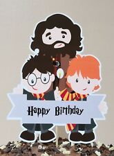 Harry Potter Cake Topper Party Centrepiece Decoration - Happy Birthday 15cm tall