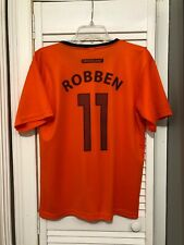 Netherlands Soccer Jersey Arjen Robben #11 S Orange Dutch Football 2000's FIFA