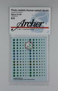 Archer (90mm - 1/4) Photorealistic Human Eyeball Decals #1 (84 Figures) AR99003A