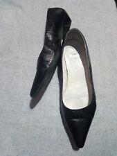 bailarinas de piel en color negro, 2,5 cm de tacón
