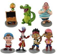 Jake & Neverland Pirates Cake Decoration Set PVC Topper 7 pcs Figures Birthday