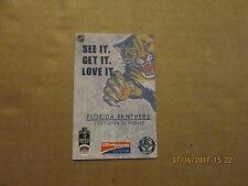 6a98b885e74 NHL Florida Panthers Circa 2007-2008 BUD LIGHT Hockey Pocket Schedule