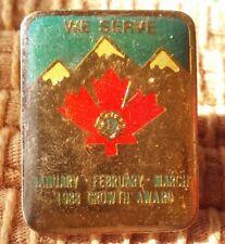 Lions Club We Serve 1988 Growth Award Canada pin badge