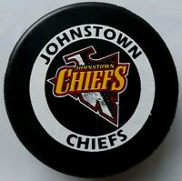JOHNSTON CHIEFS OFFICIAL GAME PUCK RARE C & T HOCKEY PRODUCTS SPONSOR - CANADA