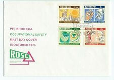 Rhodesia Occupational Safety First Day Cover 1975 Salisbury Unaddressed