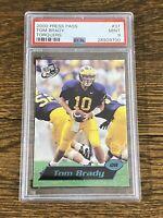 2000 Press Pass #37 TOM BRADY Blue Torquers Rookie Football Card Rare PSA 9 MINT