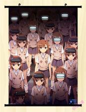 "8""*12""Japan Anime Toaru Kagaku no Railgun cosplay Wall Poster Scroll TK4"