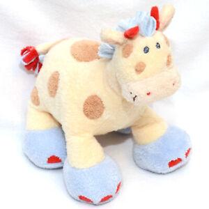 "Baby Gund WOODLES Giraffe Little Gazoo 7"" Plush #58551 w/ Rattle"