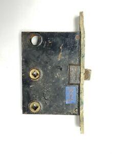 "B116 Antique Large Mortise Lock CORBIN, plate 6 1/2"" body 4 9/16"" x 3 3/16"""