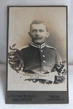 Militaria Cabinet Foto Portrait Soldat 1. Weltkrieg München