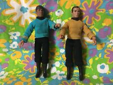 Vintage Star Trek Captain Kirk & Mr Spock Mego Action Figures 1974