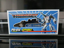 Transformers MMC PS-01A SPHINX ALTERNATIVE / MP MIRAGE SALE PRICE LIMITED TIME!