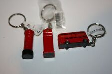 pocket money toys London Souvenirs keyrings red letterbox/phone box/double bus