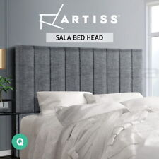 Artiss Bed Frame QUEEN Size Bed Head Headboard Bedhead Fabric Base SALA Grey