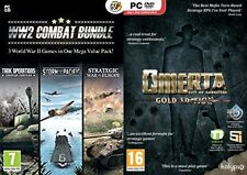 ww2  world war 2 Combat bundle 3 strategy  games & omerta gold    new&sealed
