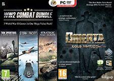Ww2 GUERRA MONDIALE 2 Combat Bundle 3 giochi di strategia & OMERTA GOLD NUOVO E SIGILLATO