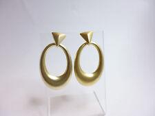 925925 Argento sterling grande dorato matt orecchini nuovi Modello 2