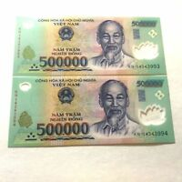 1 MILLION VIETNAMESE DONG CURRENCY (VND) - (2) 500,000 Banknotes - FAST DELIVERY