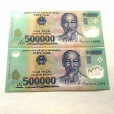 1,000,000 VIETNAMESE DONG CURRENCY (VND) - (2) 500,000 Banknotes - FAST DELIVERY