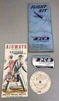 Vintage 1946 Pennsylvania Central Airlines PCA Flight Kit Sticker Timetable