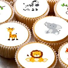 Little Elephants {green} Edible Round Cake Topper Decoration Other Baking Accessories