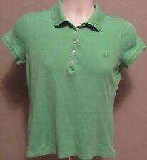 IZOD Golf Shirt Woman's Small Lime Green 100 % Cotton