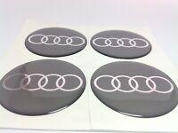AUDI 4 x 70mm Silikon Emblem Felgen Aufkleber Logo Nabendeckel Nabenkappen