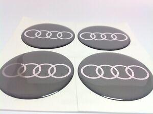 4 x 90mm Silikon Emblem Felgen Aufkleber Logo Nabendeckel Nabenkappen  für AUDI