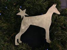 Doberman Pinscher Dog, Doggie Tree Topper, Wreath Decor, Holiday, Christmas