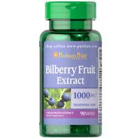 Puritan's Pride Bilberry 4:1 Extract 1000 mg Flavonoids/Anti-Oxidants 90 Caps